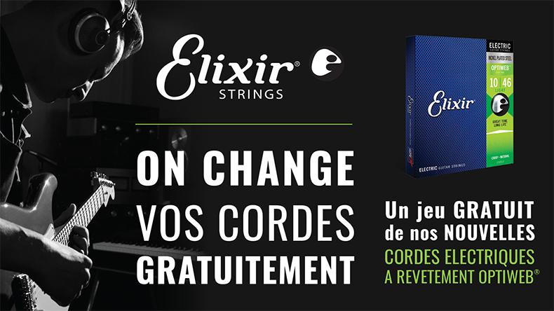 Elixir Optiweb 19002 Jeu de cordes guitare électrique 09-42